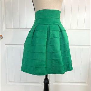 Anthropology Christmas green skirt!